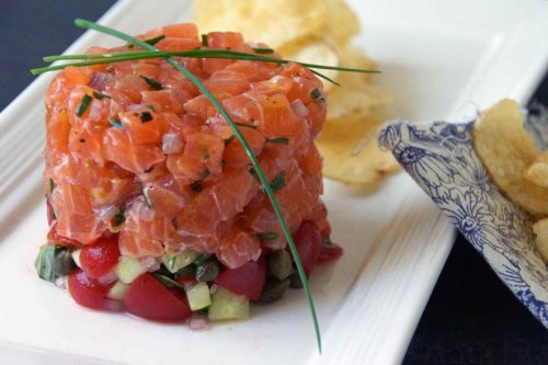 Tartar de salmón fácil